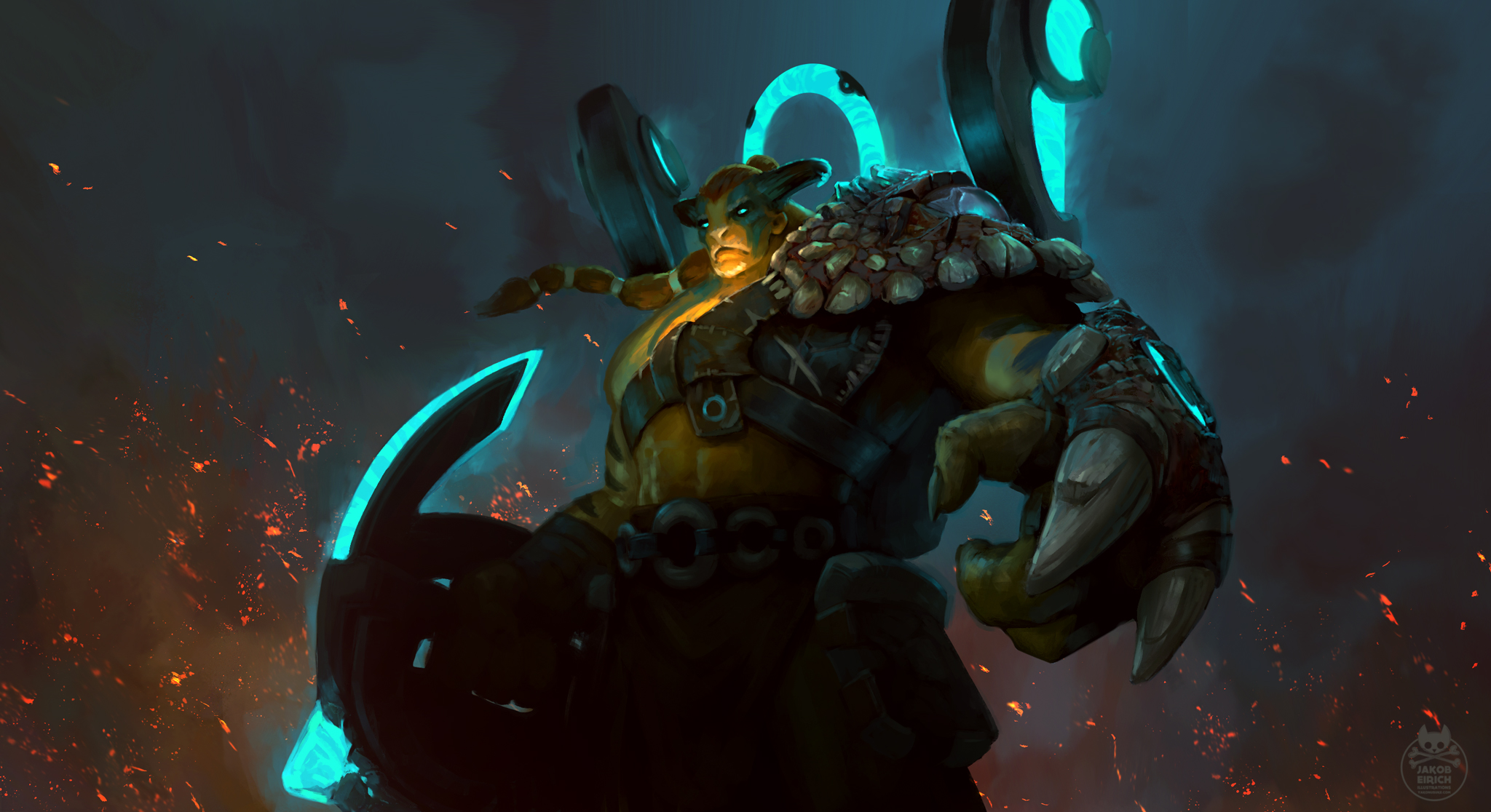 dota 2 store marketing art jakob eirich illustrator